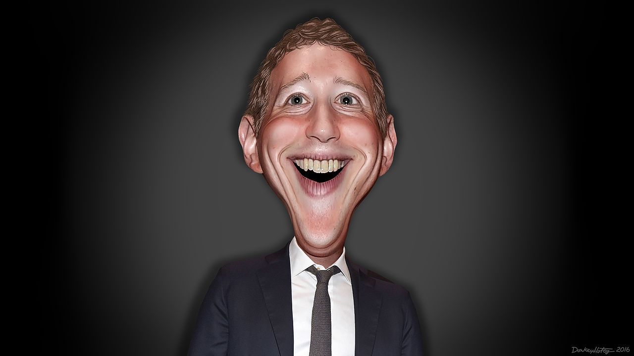 Mark Zuckerberg caricature by DonkeyHotey
